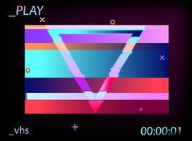 geometrisch holographisch im Synthwave-Stil Glitch-Effekt vektor
