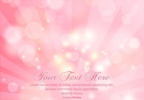 Schöne rosa Sunray Bokeh Hintergrund vektor