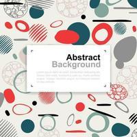 abstrakt cirkel och linje färgglada mönster design vektor
