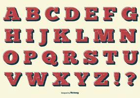 Vektor Retro Alfabet Samling