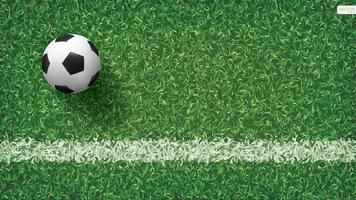 Fußball oder Fußball auf Fußballplatz vektor