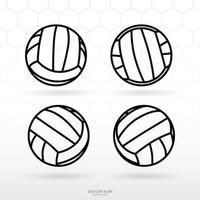 fotboll eller volleyboll ikonuppsättning vektor