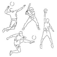 Sportler skizzieren Sammlung