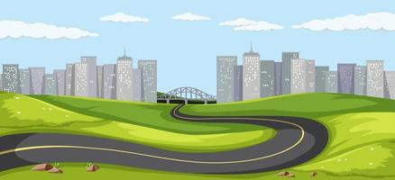 Straße in die Großstadt vektor