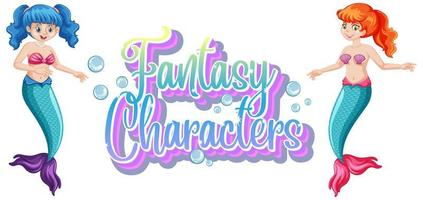 Meerjungfrau Fantasy-Charaktere