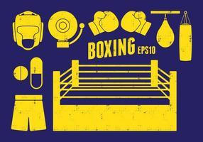 Boxning Ikoner vektor
