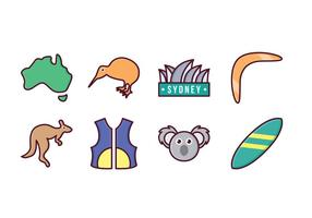Kostenlose Australien Icon Set