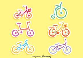 Trevlig Cykel Vector Set