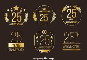 Goldene Jahrestags-Sammlung Vektor