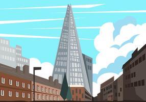 Der Scherben und die Stadtansicht vektor
