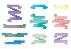 Vektor Aquarell Bänder