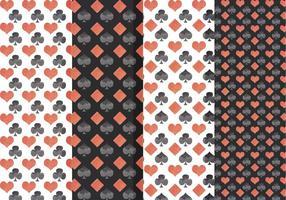 Vektor Spielkarten Symbole Muster