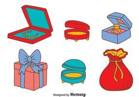 Smycken Box Vector Set