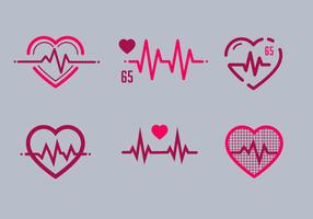 Gratis hjärtfrekvensvektor vektor