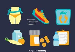 Bantning diet vektor uppsättning