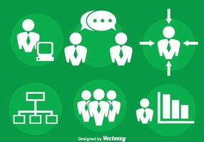 Treffpunkt und Business Icons Vektor