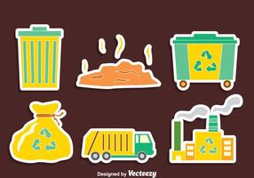 Nizza Müll-Element Vektor-Set