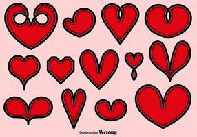Sammlung von Vektor Herzen Icons