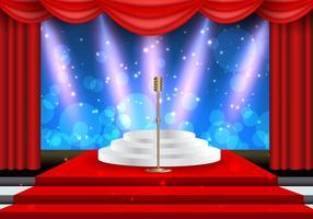 Holly Wood Lights Theater Vorlage vektor
