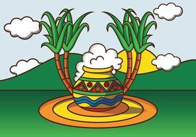 Illustration av Pongal