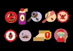 Bedbug Control Icons vektor