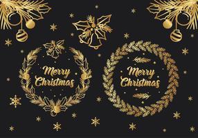 Julhälsning Gratis Vektor