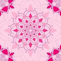 mandala mönster på rosa bakgrund