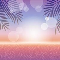 tropisches Landschaftsfahnenentwurf des Sonnenuntergangs vektor