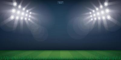 Fußballfeld oder Fußballfeldstadion Hintergrund