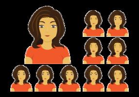 Frau oder Mujer Vektor