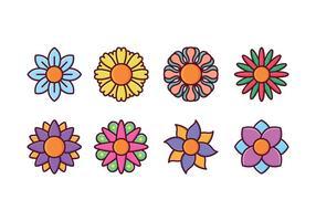 Freie Blume Icon Set