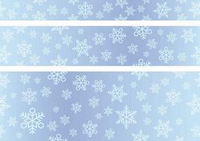 festliga snöflingor i en sömlös bannerbakgrund vektor