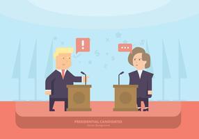 US-Politiker Pult Hintergrund vektor