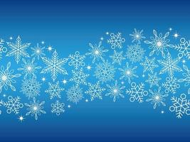 horisontellt kontinuerlig bakgrund med snöflingor vektor