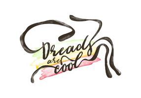 Free Dreads Aquarell Hintergrund vektor