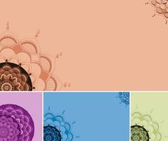 vacker färg mandala bakgrund