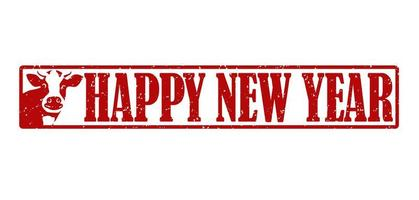 året för oxstämpelelementet för nyår