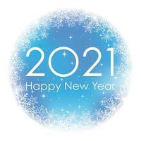2021 Neujahrsgruß rund Winterzeichen vektor