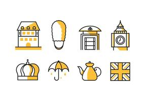 Das Königreich Großbritannien / England Icons vektor