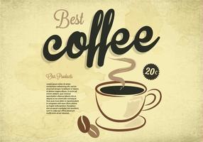 Beste Kaffee-Weinlese-Vektor