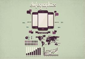 Minimaler Infografik-Vektor