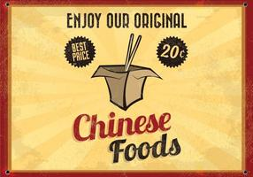 Chinesische Takeout Glowing Vector