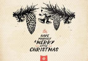 Jingle Bells und Tannenzapfen Vektor