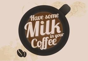 Kaffe och mjölkvektor