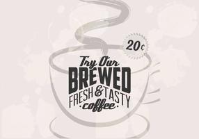 Retro 20 cent kaffe vektor