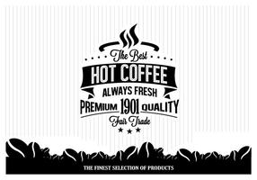 Varm kaffe minimalistisk vektor
