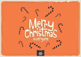 Frohe Weihnachten Jeder Süßigkeiten Vektor
