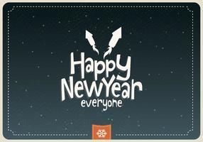 Frohes neues Jahr Jeder Vektor