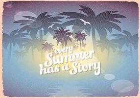 Retro Sommerzeichen vektor