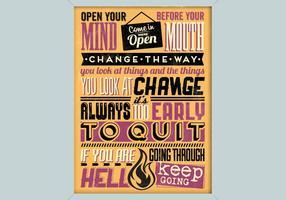 Freches inspirierend Plakat